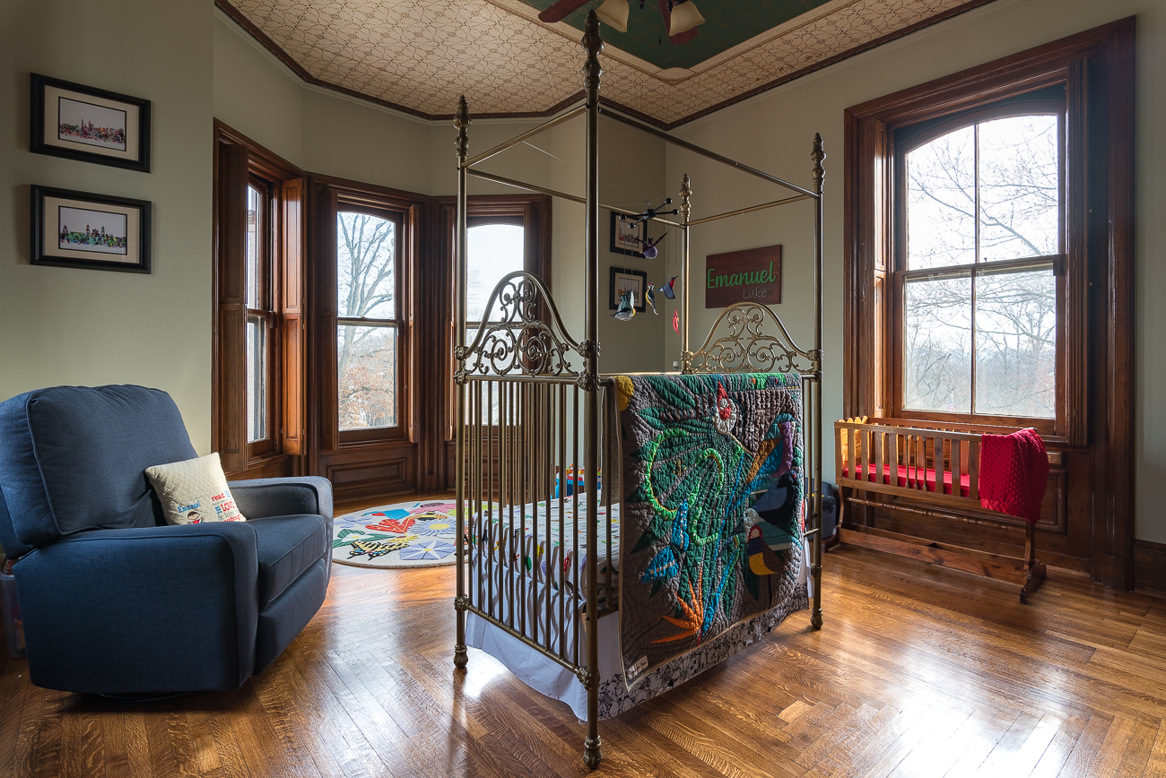 "When the third family moved out of the home, current owners Courtney and Michael Jones purchased it in 2013. Together, they're raising their young children in the beautifully restored post-Civil War Clifton mansion today. While the house still bears much of its historic decor, it serves the purpose of being a lived-in home instead of a dedicated shrine to its past. / Image: Phil Armstrong, Cincinnati Refined // Source: ""The Wayne-Rawson Villa"" by Walter E. Langsam (2015) with research by Betty Ann Smiddy // Published: 1.30.19"