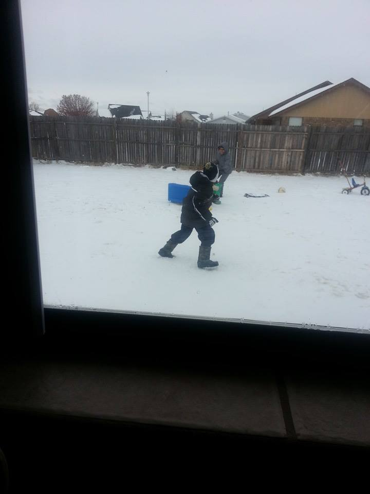 Fun in the Lawton snow.