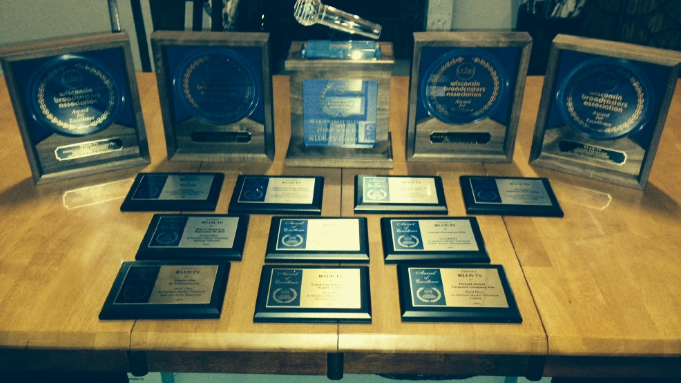 "WLUK-TV earned 14 awards, plus ""Station of the Year"" honors, at the Wisconsin Broadcasters Association banquet."
