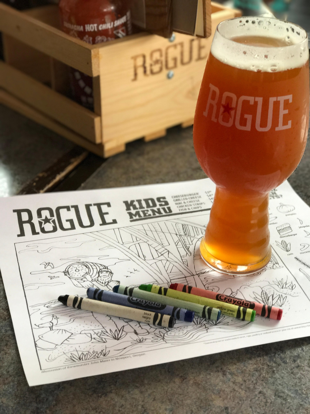 Beer tasting and coloring at Rogue Ales & Spirits                                          (Image: Kate Neidigh)