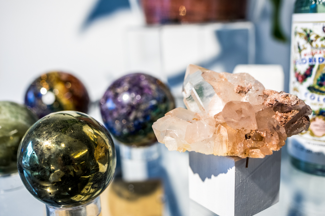 Diamyn's Crystal Bar is owned by Diamyn Rembert and specializes in crystals and healing jewelry. / Image: Catherine Viox // Published: 8.4.20