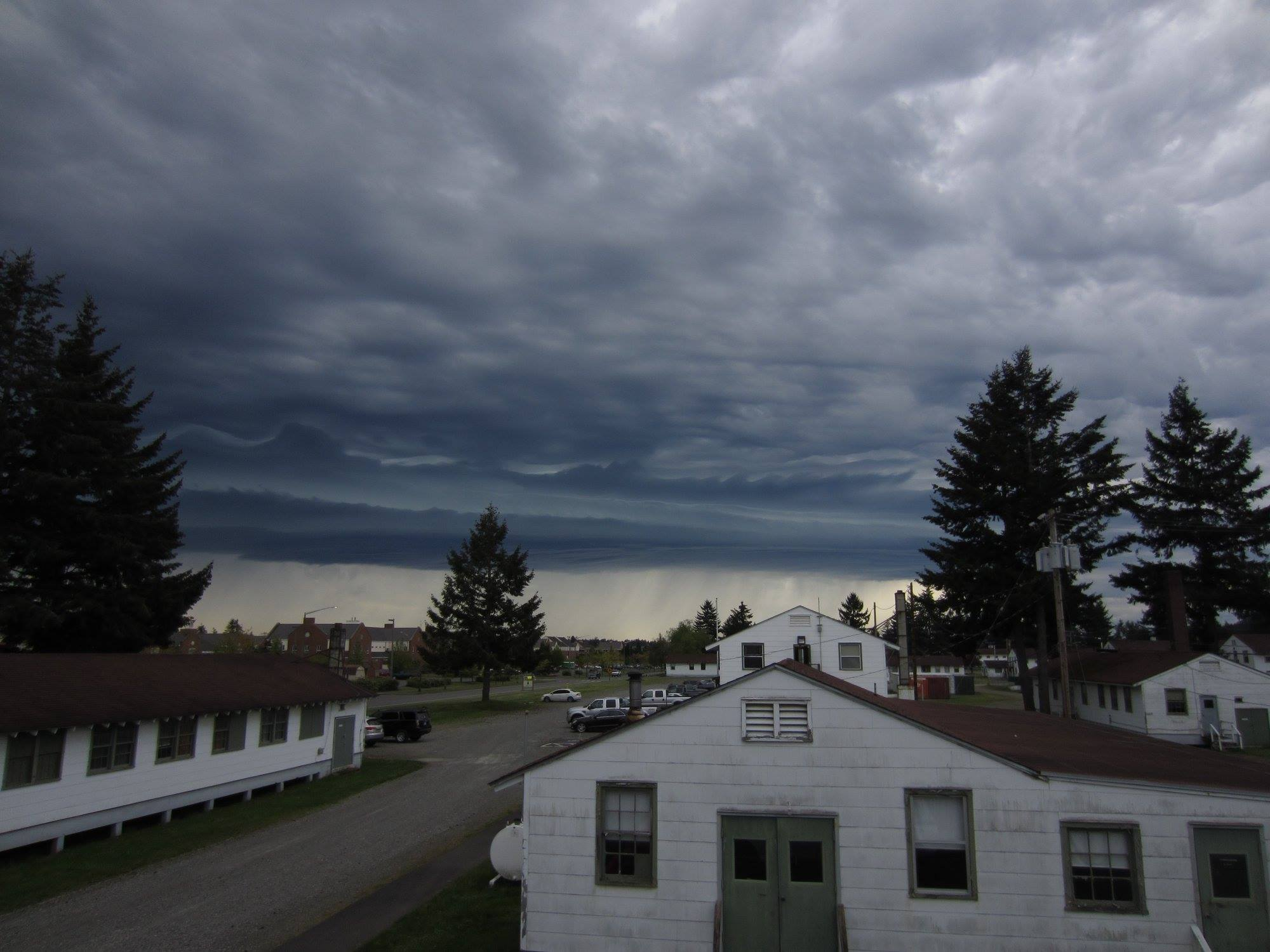Storms hit Joint Base Lewis-McChord. (Photo courtesy of George Fitkas)