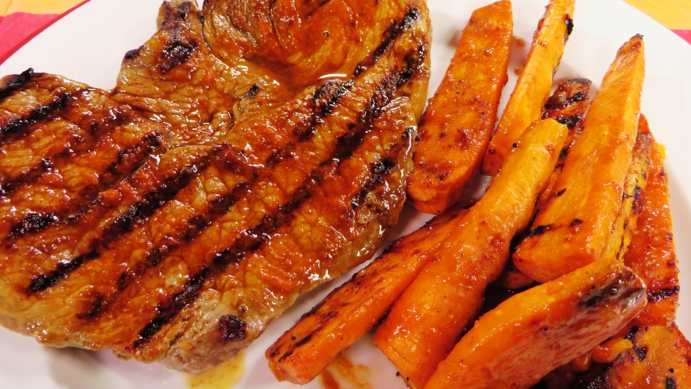 steak and carrots