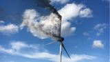 Wind Turbine catches fire in Donley County