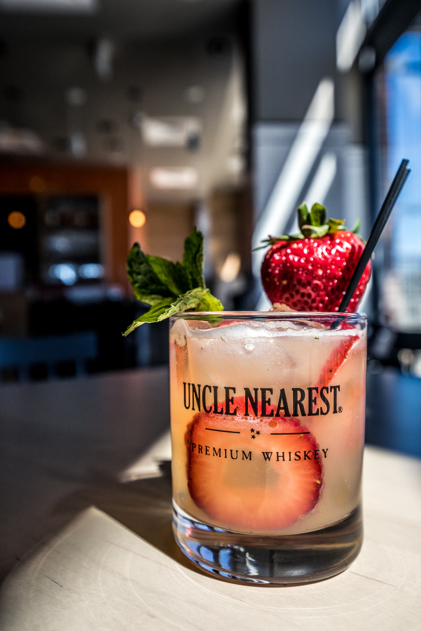 PLACE: Kitchen 1883 / ADDRESS: 7640 Beechmont Avenue (Anderson) / Strawberry Mint Lemonade: Uncle Nearest whiskey, Grand Marnier, strawberries, mint leaves, sugar, and lemon juice / Carryout available online and delivery through Grubhub: kitchen1883.com / Image: Catherine Viox // Published: 4.28.20
