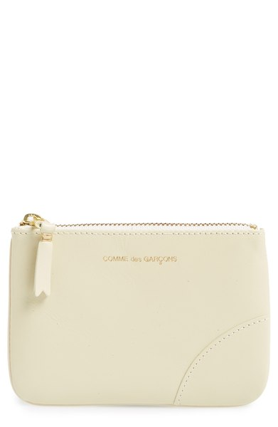 CDG Small Classic Leather Zip-Up Pouch - $137. Get it at nordstrom.com/space. (Image: Nordstrom)