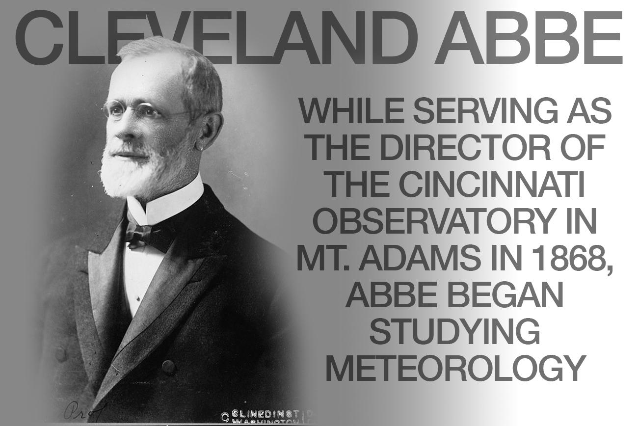 Image: [Professor Cleveland Abbe, first head of U.S. Weather Bureau, head-and-shoulders portrait, facing left] from Clinedinst, Washington, D.C. via the Library of Congress // Published: 2.28.18
