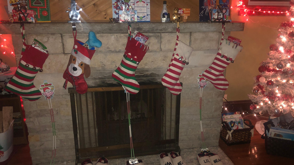 Stockings are filled with gifts from St. Nicholas the morning of Dec. 6, 2019, in Hancock.