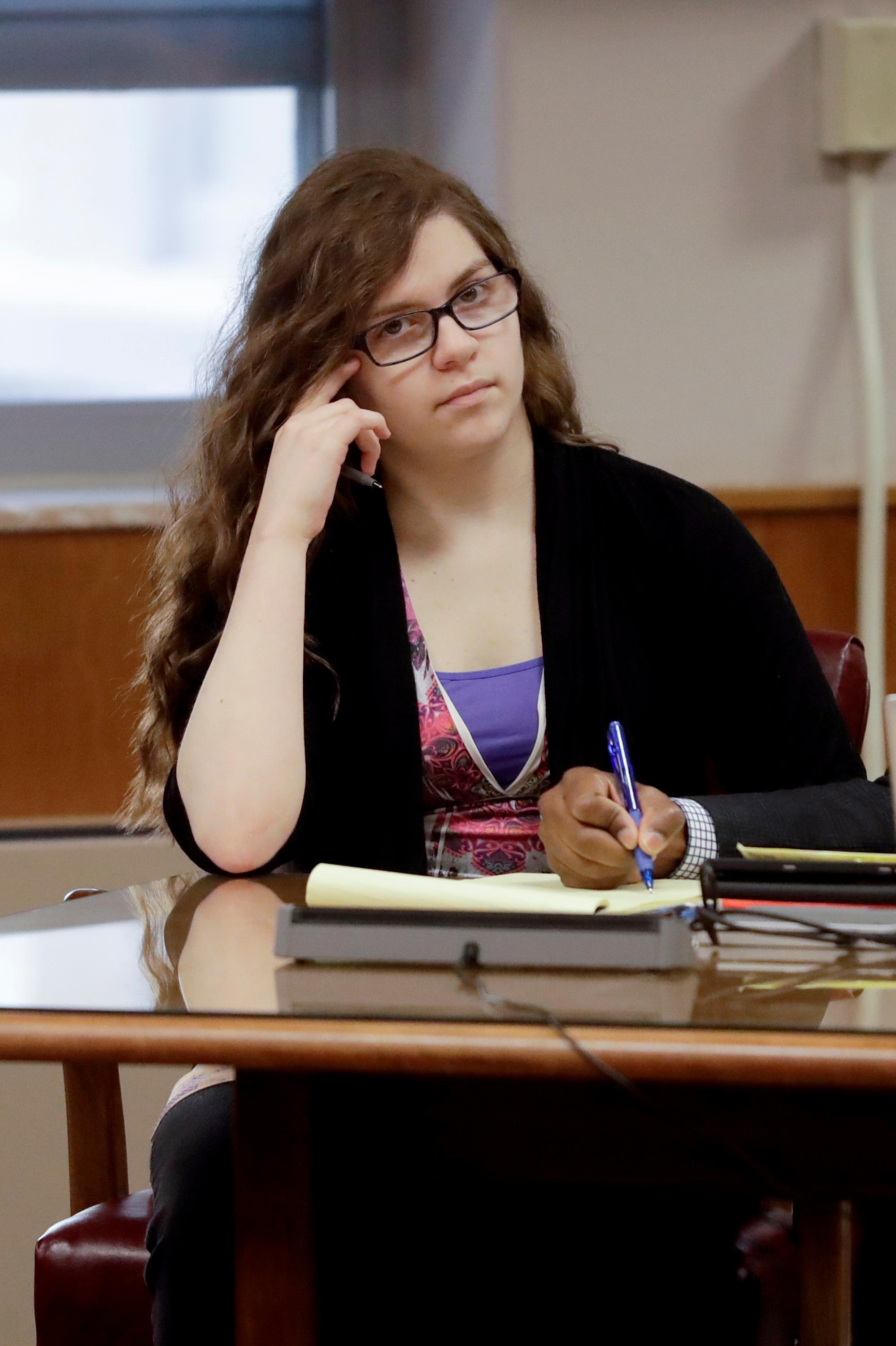 Anissa Weier listens during the jury selection in the trial to determine her competency at Waukesha County Courthouse Monday, Sept 11, 2017, in Waukesha, Wis.  (AP Photo/Morry Gash, Pool)