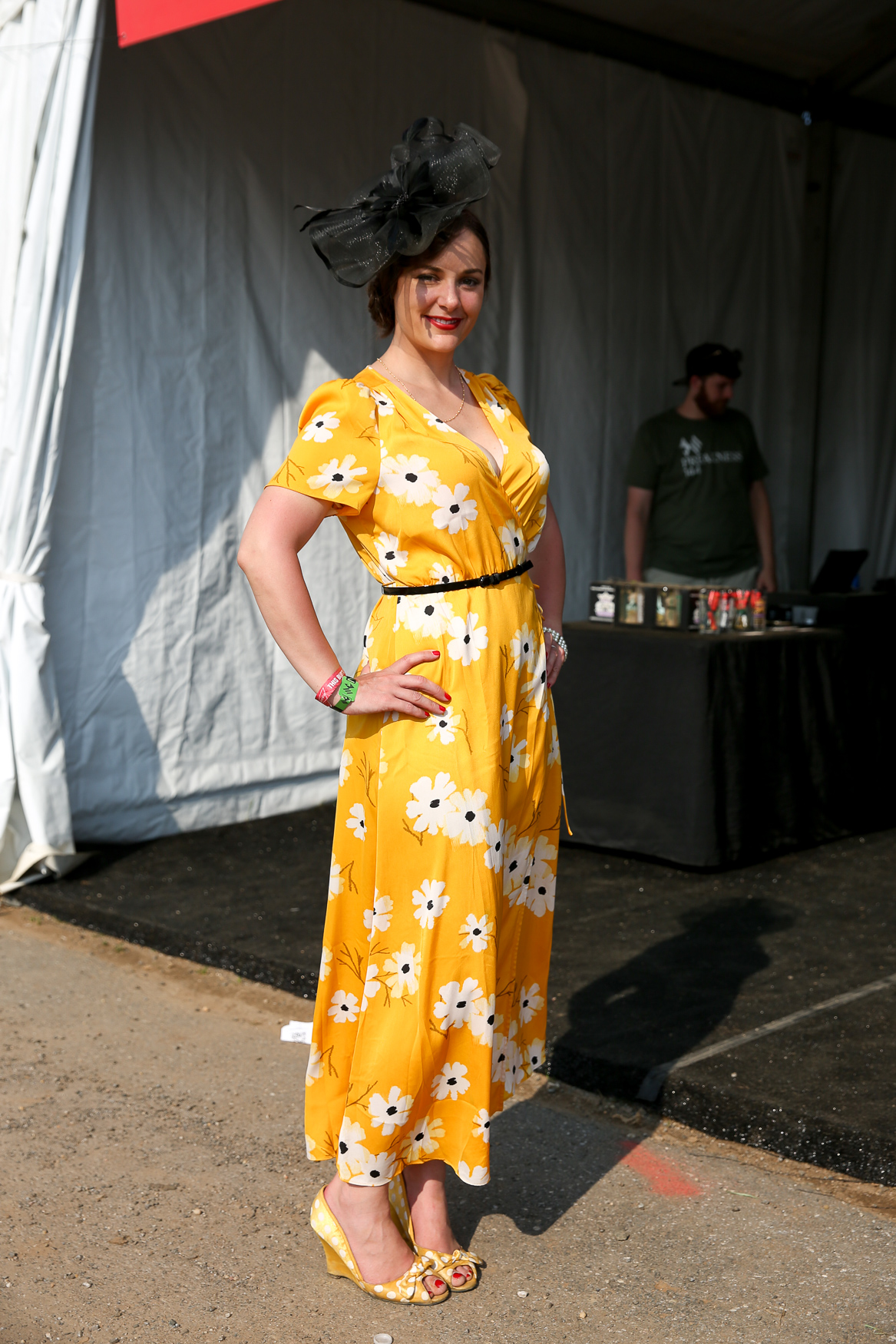 Summer is also the time to drag out the bright colors, like this cheery number from Preakness.{ }(Amanda Andrade-Rhoades/DC Refined)
