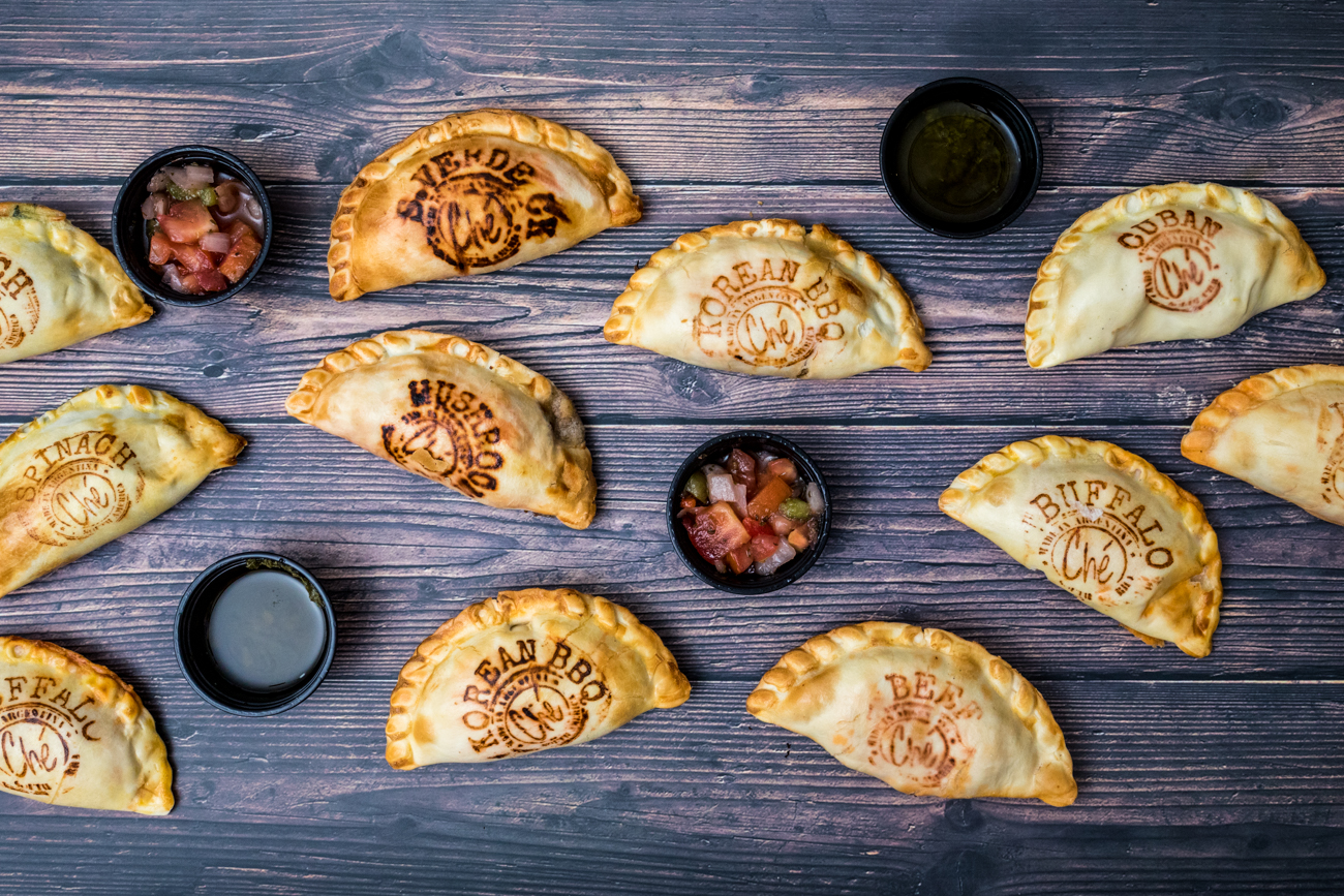 "PLACE: Ché / ADDRESS: 1342 Walnut Street (Over-the-Rhine) / Assorted empanadas /{&nbsp;}<a  href=""https://checincinnati.com/order-carryout-online/"" target=""_blank"" title=""https://checincinnati.com/order-carryout-online/"">Order online</a>{&nbsp;}or with{&nbsp;}<a  href=""https://www.doordash.com/store/174399/en-US/?utm_source=partner-link&utm_medium=website&utm_campaign=174399"" target=""_blank"" title=""https://www.doordash.com/store/174399/en-US/?utm_source=partner-link&utm_medium=website&utm_campaign=174399"">DoorDash{&nbsp;}</a>/ Image: Catherine Viox // Published: 1.10.21"