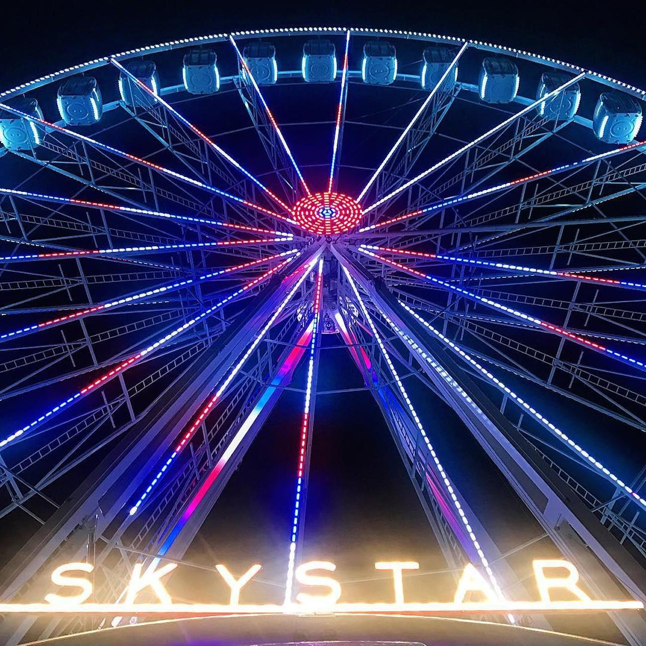 The SkyStar is the largest traveling observation wheel in the country. Guests are carried in gondolas up almost 15 stories high while overlooking the Ohio River. The 36 carriers are climate-controlled and can hold up to six people. The magnificent structure will only call The Banks its home through December 2nd before it's packed up and rolled to a new city. SkyStar runs daily, and tickets are $12.50. ADDRESS: 55 East Freedom Way (45202) / Image courtesy of Instagram user @lt105305 // Published 9.12.18<br>
