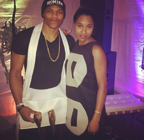 Russell Westbrook and girlfriend Nina Earl.