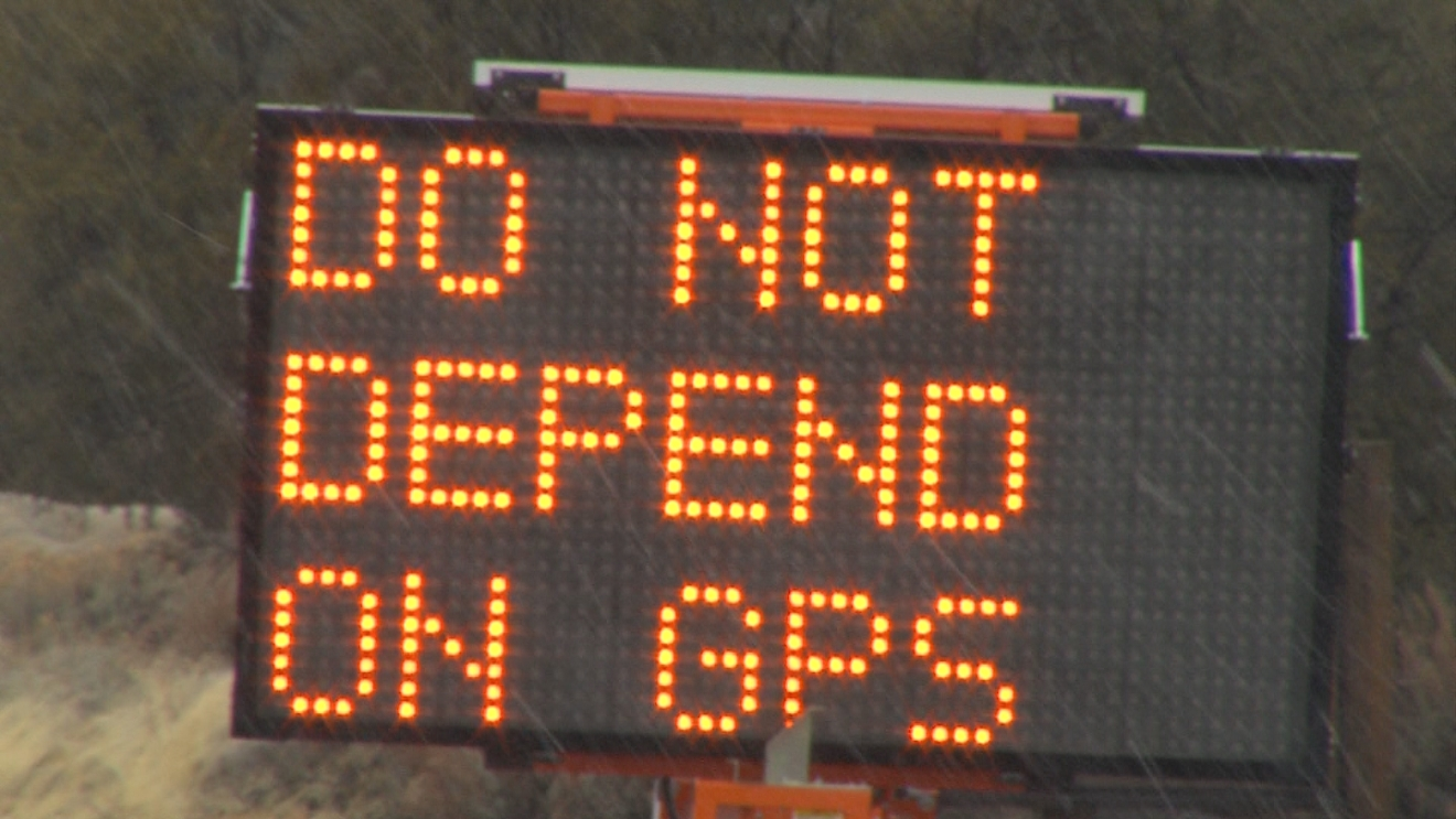 DO NOT DEPEND ON GPS sign
