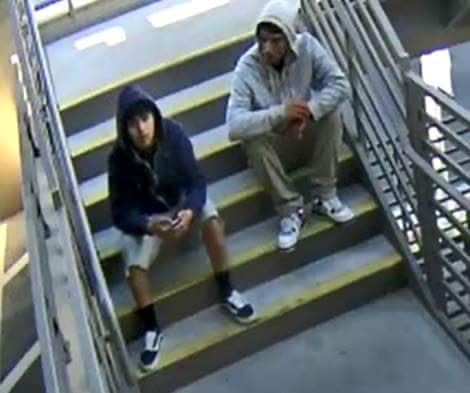 Downtown Summerlin Robbery: 2 young suspects are wanted for robbing 2 women at gunpoint on the 2nd floor of the parking garage outside Macy's and Dillard's. (Kelsey Thomas | KSNV){ }