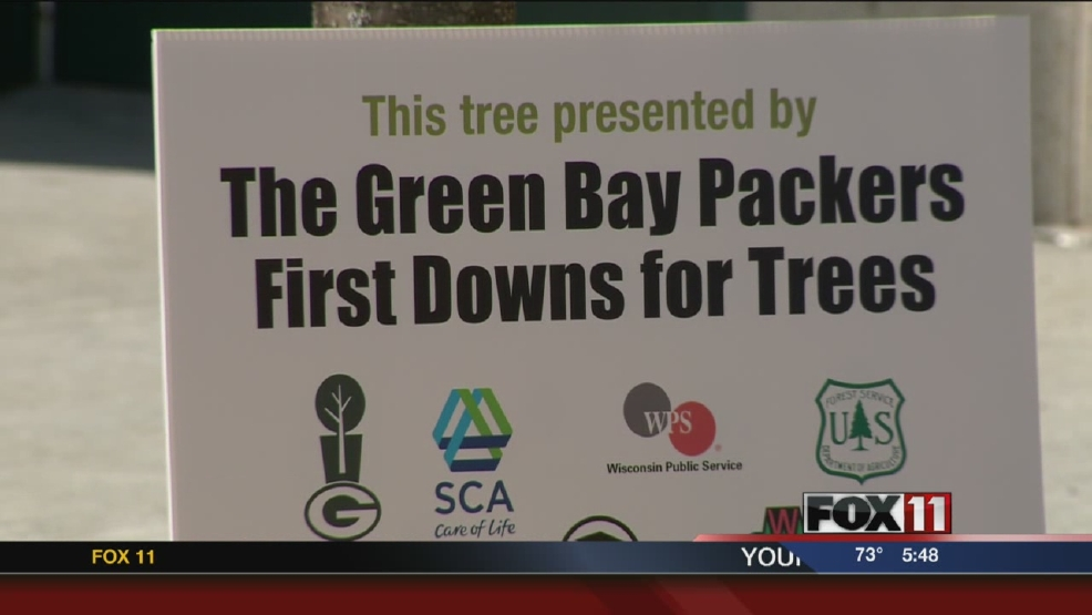 Trees planted at Lambeau Field