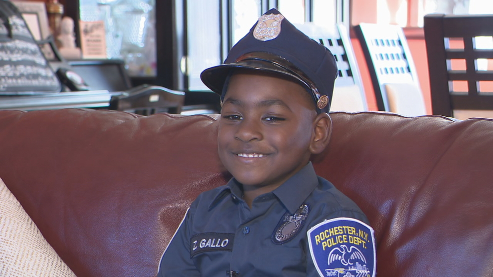 Surprise gift for five-year-old who loves police officers | WHAM