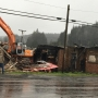 Residents, county commissioners watch demolition of Winchester Bay restaurant/bar