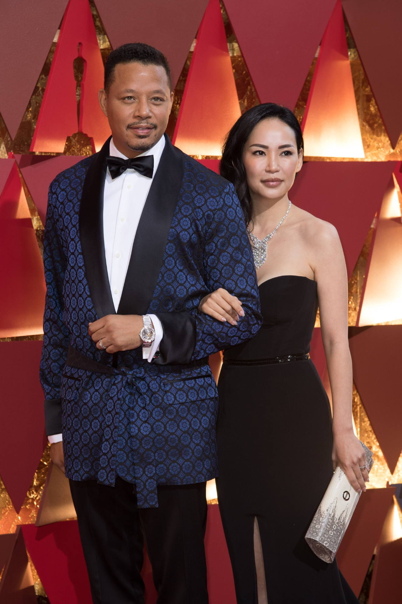 Actor Terrence Howard and wife, Mira Pak, arrive on the red carpet at The 89th Oscars® at the Dolby® Theatre in Hollywood, CA on Sunday, February 26, 2017. (A.M.P.A.S.)
