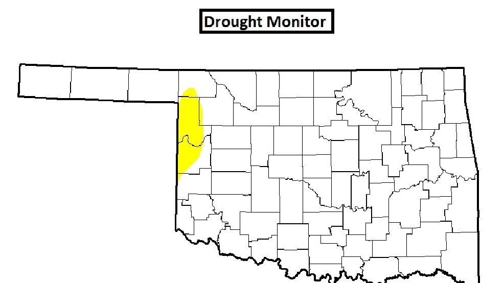 Precipitation and drought update for Oklahoma