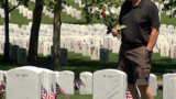 Flags decorating the Eagle Point National Cemetery bring peace to family members