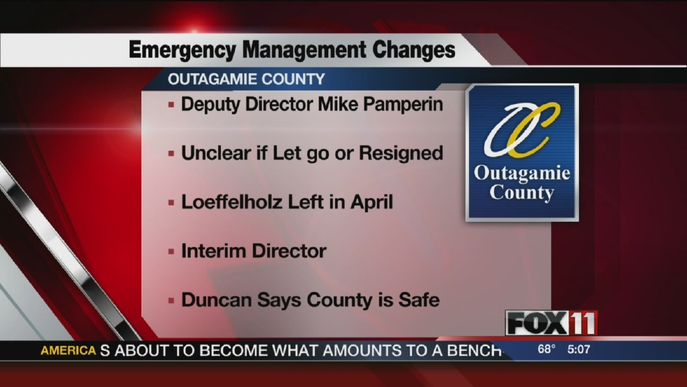 More changes for Outagamie Co. Emergency Management Dept.