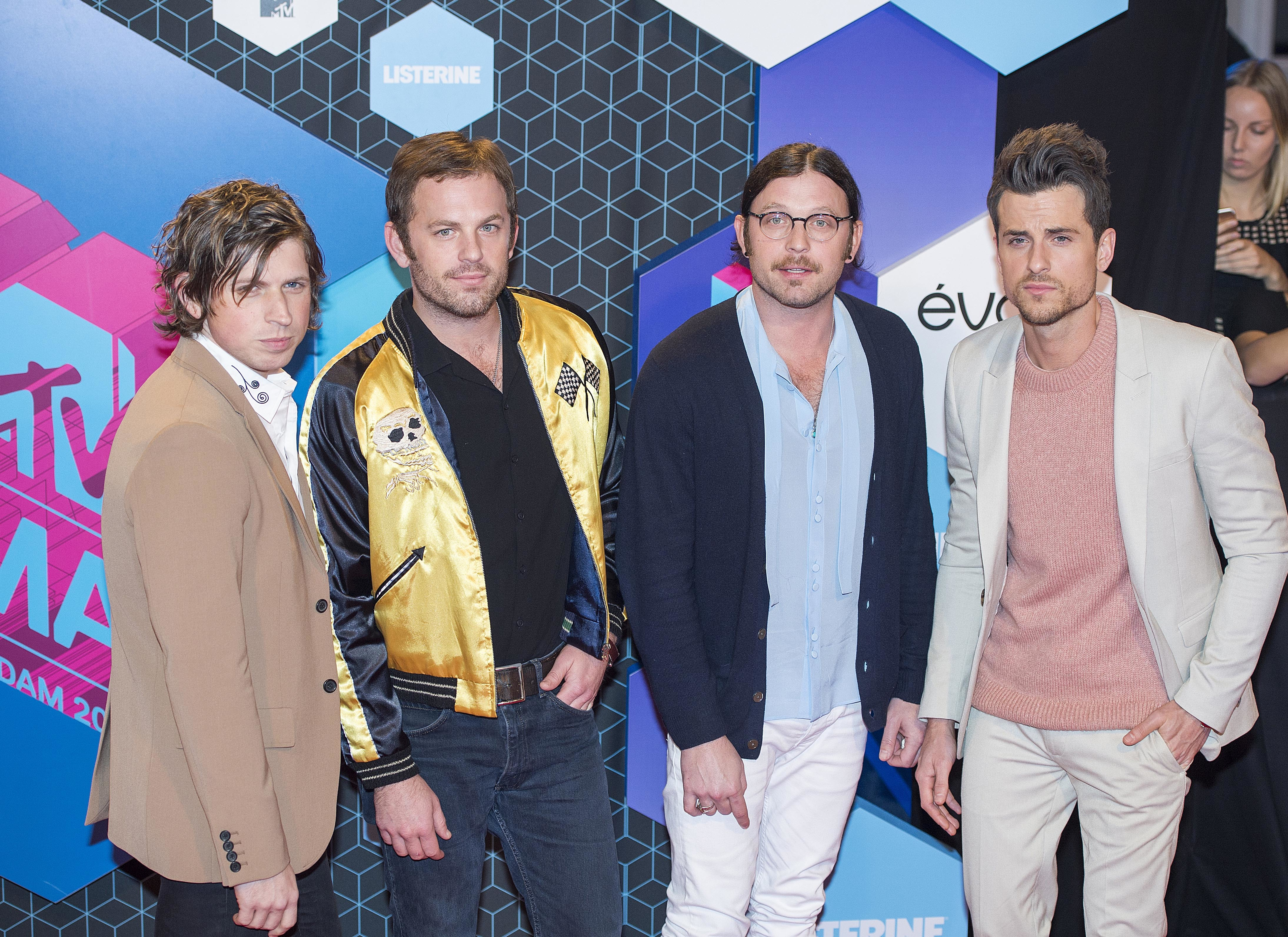 The 2016 MTV Europe Music Awards (EMAs) held at the Ahoy Rotterdam, Netherlands - Red Carpet Arrivals  Featuring: Kings of Leon, Caleb Followill, Jared Followill, Matthew Followill, Nathan Followill Where: Rotterdam, Netherlands When: 06 Nov 2016 Credit: Rene Rossignaud/WENN.com