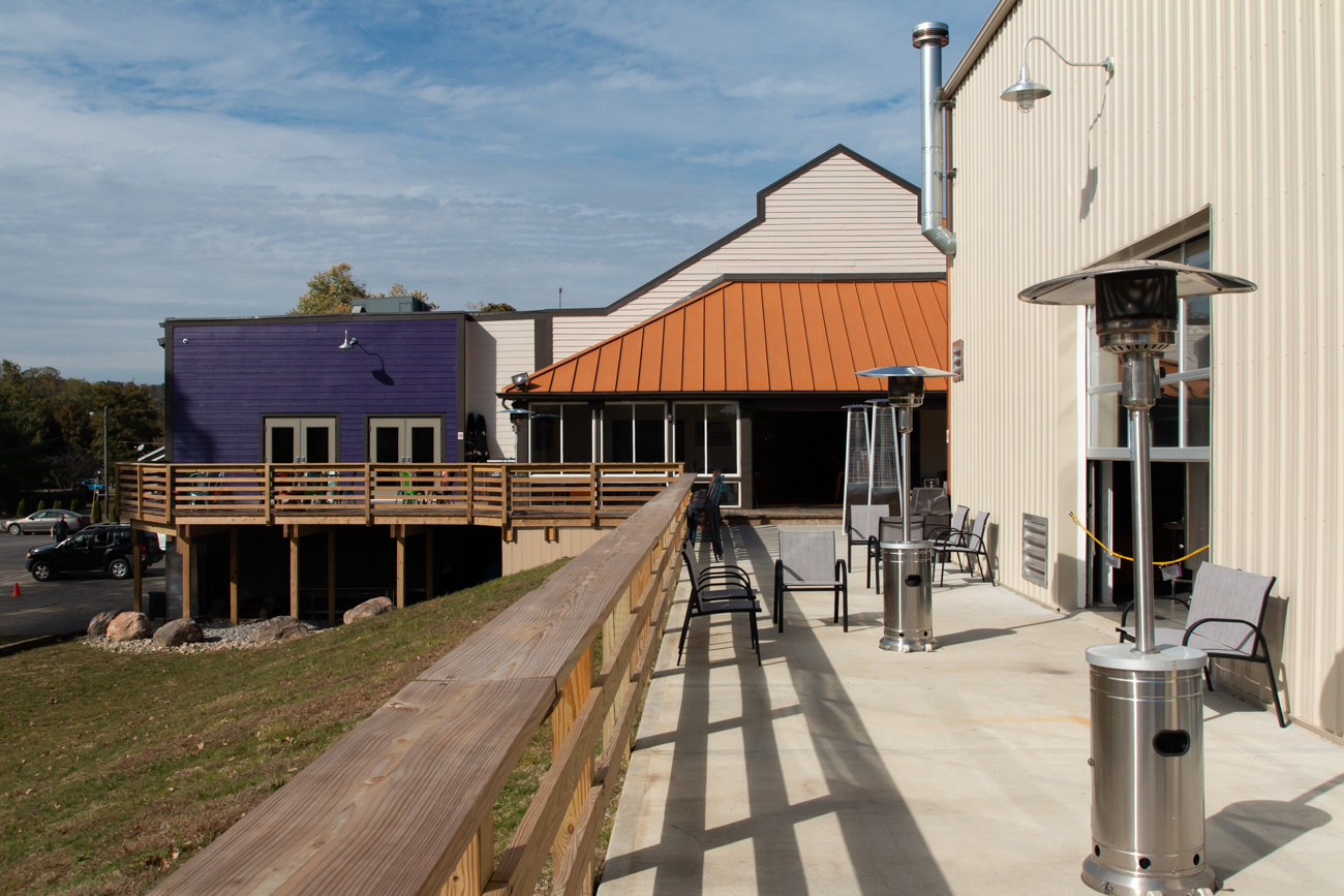 The brewery is located up the road from Riverbend, Coney Island, PNC Pavilion, Belterra Park, and neighbors the California Nature Preserve and Golf course. It has a 400-person capacity: 300 inside and 100 in the beer garden. They're open Monday through Thursday from 3 to 11 PM, Friday 3 to midnight, Saturday 11 AM to midnight, and Sunday 11 AM to 10 PM. / Image: Elizabeth Lowry // Published: 11.5.19