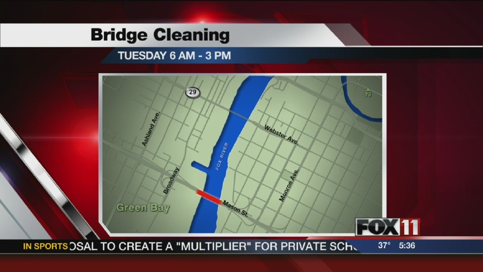 Green Bay bridges closing for cleaning