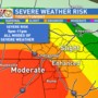 PM Update: Severe storms  threaten viewing area Monday