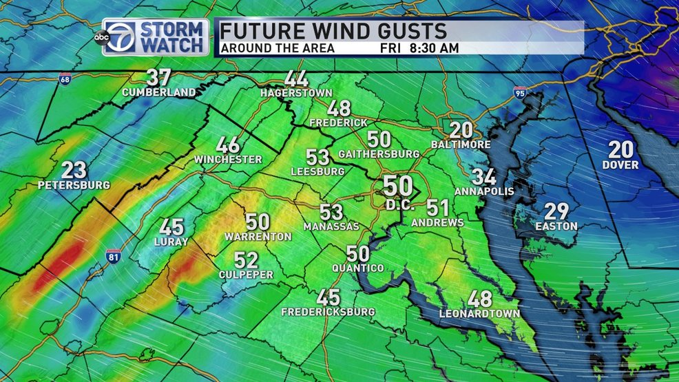 High Wind Warning: Damaging winds to 60 mph in the DC area Friday