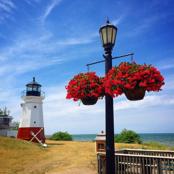 IMAGE: IG user @worldlillie / POST: Lookin' pretty, Vermilion, #Ohio! #DiscoverOhio #Lighthouse #LakeErie #LakeErieLove #Vacation #Travel