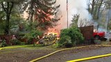 Community hall catches fire in Gales Creek