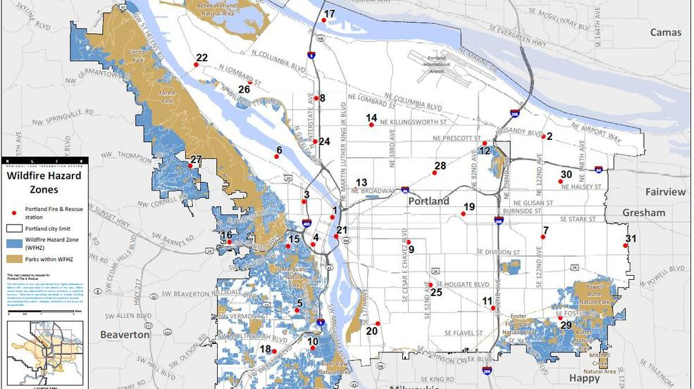 Urban Wildfires In Metro Area A Real Threat Map Shows Neighborhoods