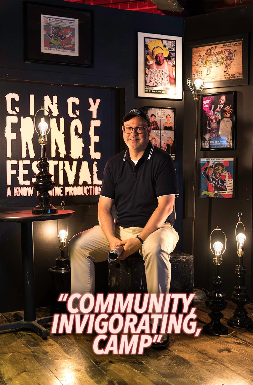 Chris Henry, Know Theatre board president / Cincy Fringe Fest runs May 29 thru June 10 at the Know Theatre in OTR. For more information, visit CincyFringe.com. / Image: Phil Armstrong, Cincinnati Refined // Published: 5.28.18