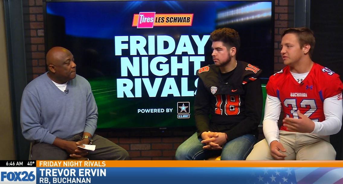 Trevor Ervin who plays running back and linebacker talking about the Buchanan keys to the game