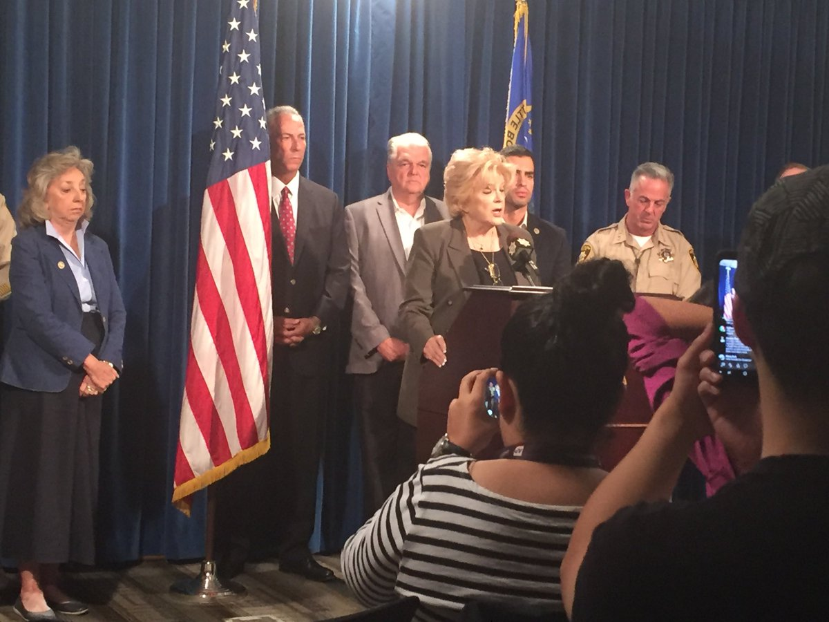 Mayor Goodman says we offer a safe place in our city. Calls this mass shooting hugely traumatic (Heather Mills | KSNV)