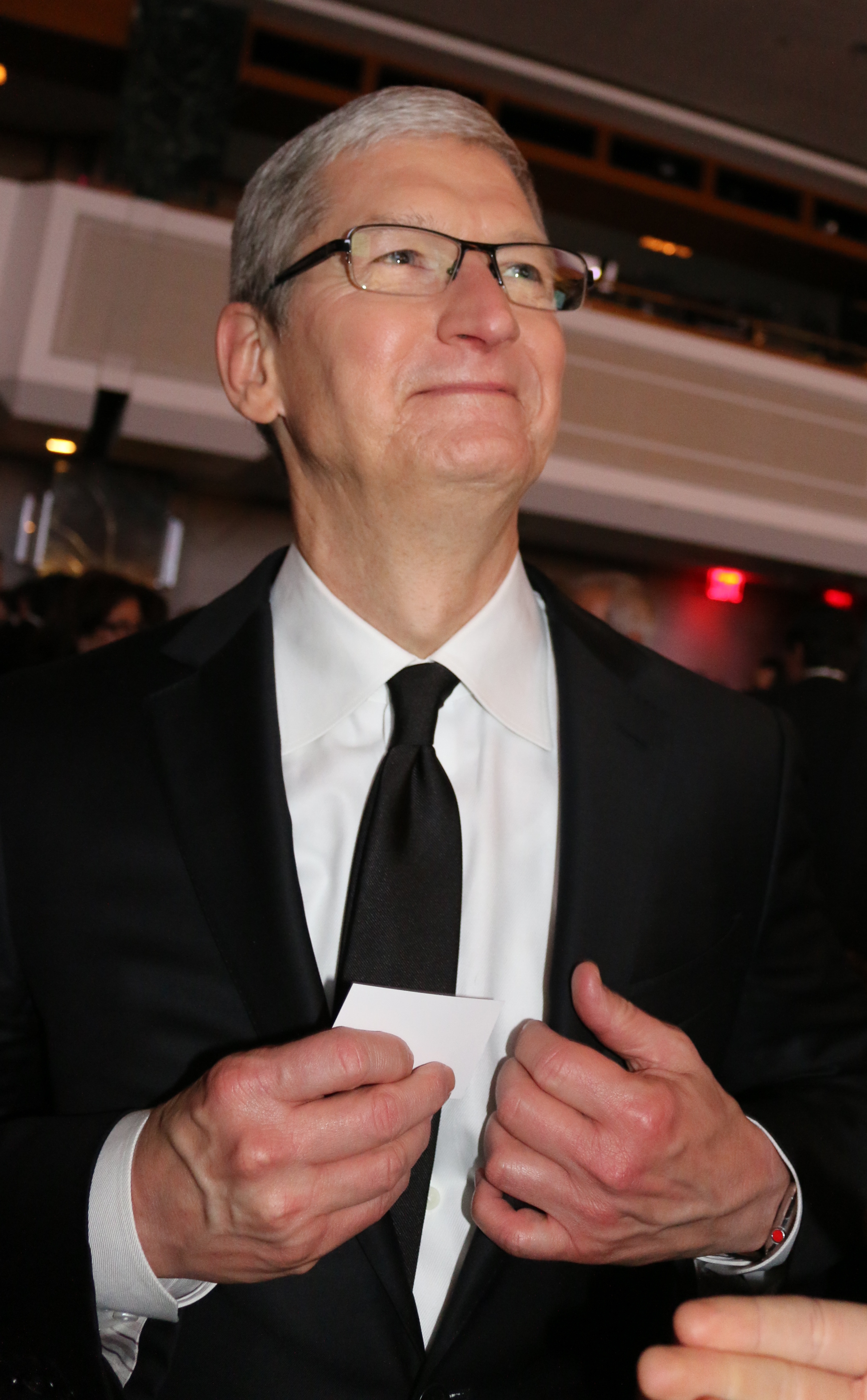 Robert F. Kennedy Human Rights 2015 Ripple Of Hope Awards at the New York Hilton - Inside                                    Featuring: Tim Cook                  Where: New York, New York, United States                  When: 08 Dec 2015                  Credit: IZZY/WENN.com
