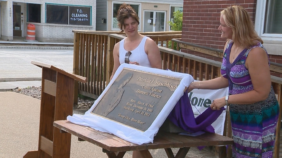 Trish Waschbisch, a domestic violence counselor who was killed by her boyfriend in April 2013, was honored on July 30. The center in Marinette where she worked is now named in her honor.