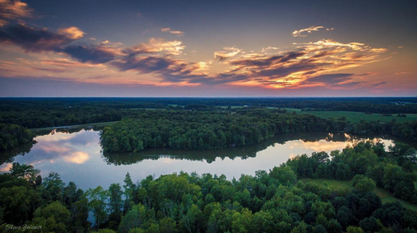 IMAGE: IG user @steve_zeinner / POST: Beautiful sunset last night from Stonelick lake.