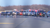 Ithaca police escort Officer Colin's body back home