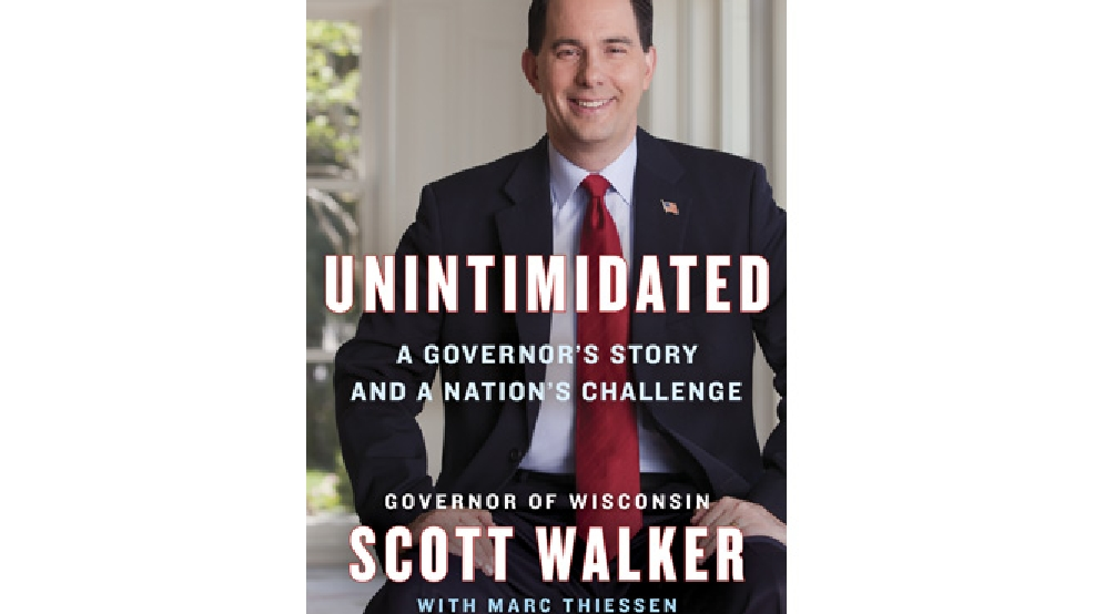 "In this book cover image provided by publisher Penguin Group, Wisconsin Gov. Scott Walker's book ""Unintimidated,"" is seen. (AP Photo/Penguin Group)"