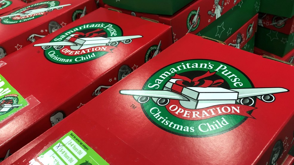 Christmas Child Boxes.Operation Christmas Child Spreads Christmas Cheer Around