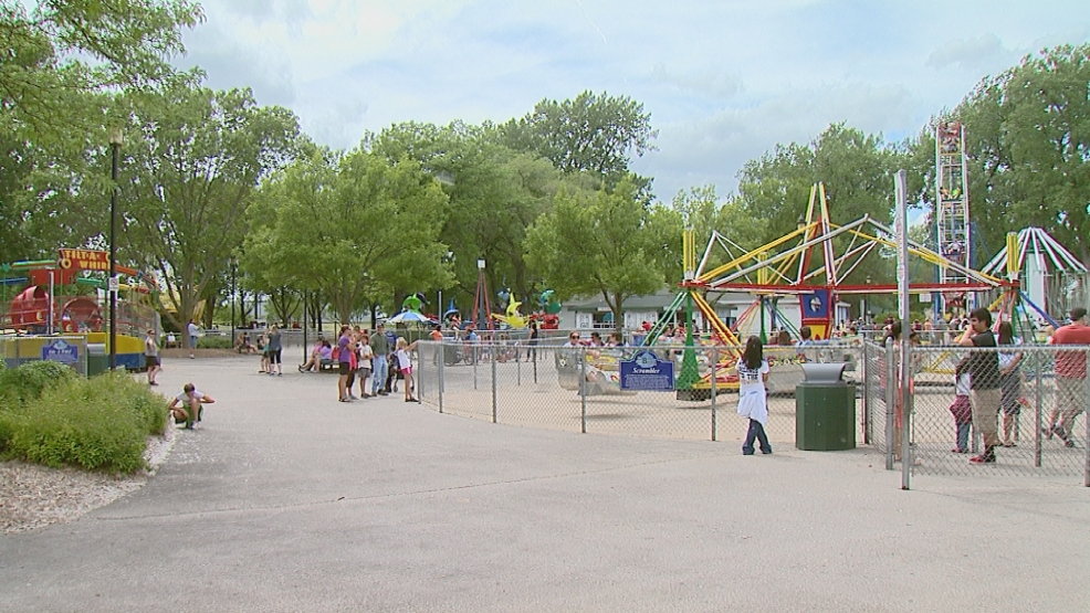 Kids and families flock to Bay Beach in Green Bay on the first day out of school for the summer.