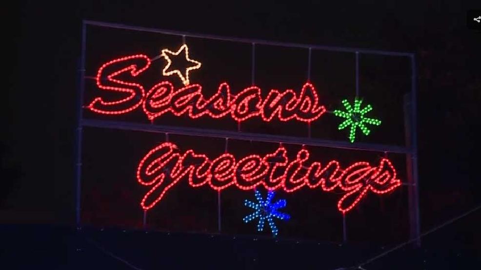 Portland International Raceway Christmas Lights