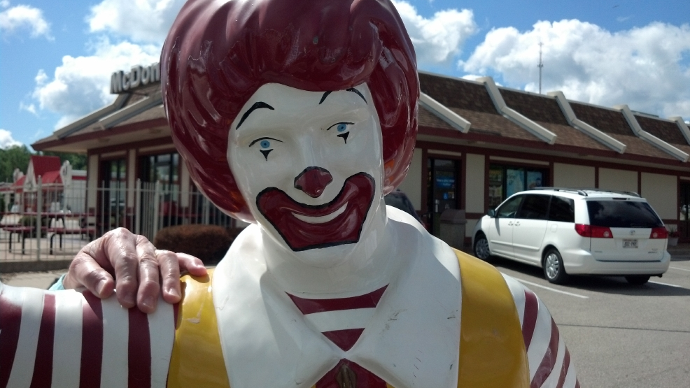 This Ronald McDonald statue has been returned to its Ripon restaurant