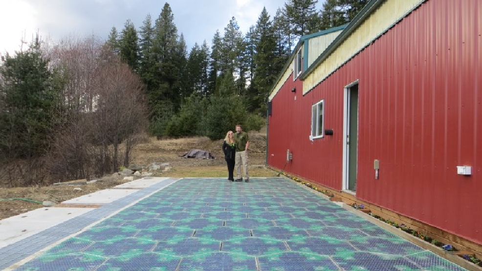 A couple in Iowa named Scott and Julie Brusaw came up with the solar roadway idea