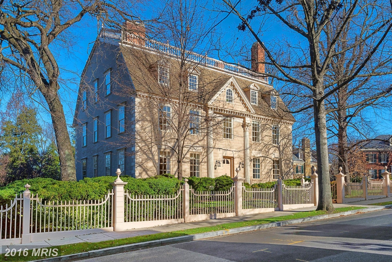 Kalorama was the hot neighborhood of 2016, with the Obamas, Ivanka Trump and Jeff Bezos all buying and/or renting property in the 'hood. This Colonial built in 1754 sold for $7,100,000, just a hair under the listing price pf $7.5M. The property has six bedrooms, seven full bathrooms and two half baths. Washington Fine Properties represented the buyer and seller. (Image: Courtesy MRIS)