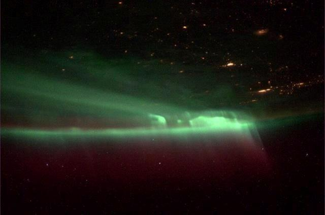 The pic doesn't do the northern lights justice. Covered the whole sky. Truly amazing!(Photo & Caption: Mike Hopkins, NASA)