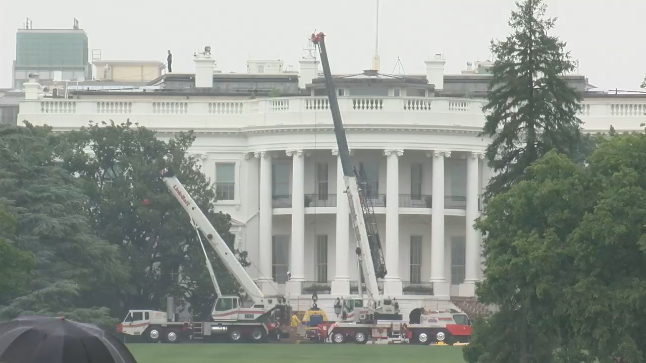 White House undergoes $3.4 million renovation. (ABC7)